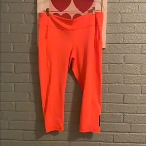 Lucy activewear neon orange leggings XL